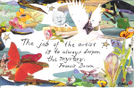 """The Job of the Artist"" collage, 2010 by: Chrissy Miles"